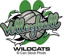 Wildcat clipart ripped With 695 Stock volleyball through