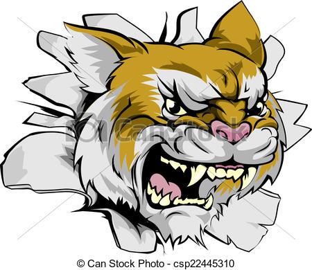 Wildcat clipart ripped Bulldog  Vector  cougar