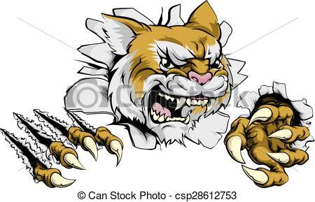 Wildcat clipart scared Tough A mascot mascot of