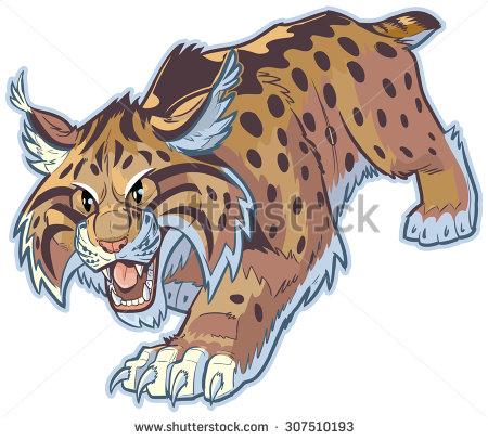 Wildcat clipart scared #stockillustration clipart #stockillustration cartoon or