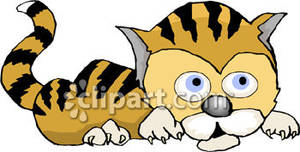Wildcat clipart scared Picture Royalty Clipart Cartoon Tiger