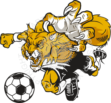 Wildcat clipart soccer Wildcat color in playing in