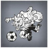 Wildcat clipart soccer Wildcat Wildcat Rivalart Kicking Soccer