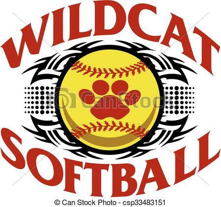 Wildcat clipart softball Clipart tribal softball wildcat Vector