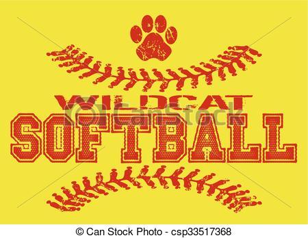 Wildcat clipart softball Softball softball wildcat of wildcat