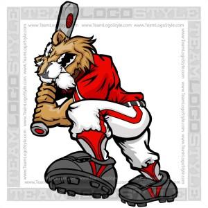 Wildcat clipart softball Cartoon Baseball Player Image Wildcat