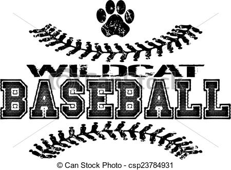Wildcat clipart softball Design illustrations baseball  stock