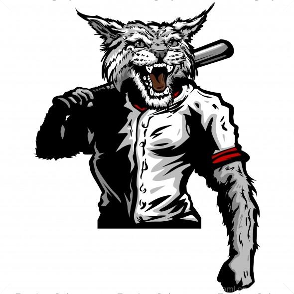 Wildcat clipart softball Player Wildcat Baseball Vector