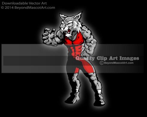 Wildcat clipart sport 1522 Wrestler Clipart Mascot Mascot