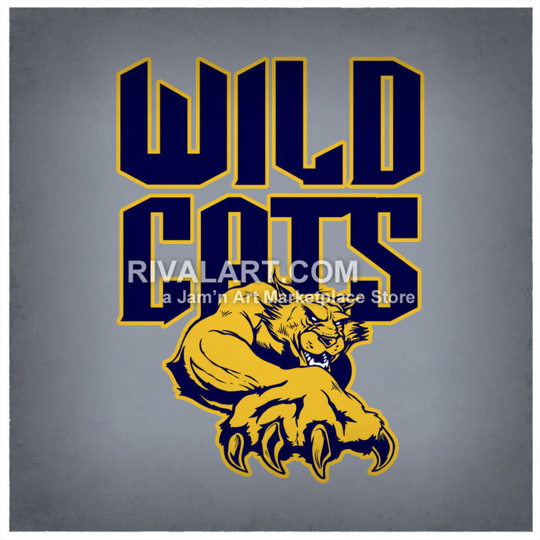 Wildcat clipart sport Sports Vector Text of Wildcats