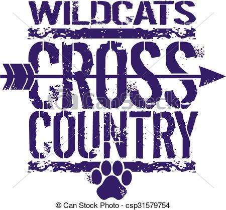 Arrow clipart cross country Clipart Vector clipart with wildcats