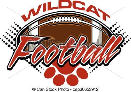 Wildcat clipart wildcat football Wildcat ball  design football