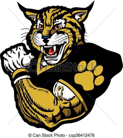 Wildcat clipart wildcat football Football wildcat football  wildcat