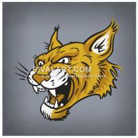 Wildcat clipart wildcat head Rivalart on Wildcat Mouth Head