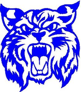Wildcat clipart wildcat head Blue Logo art clip Logo