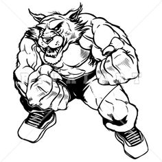Bobcat clipart wildcat Mascot Boxing of Boxer Graphic