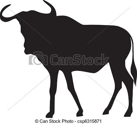 Wildebeest clipart Clipart Wildebeest Wildebeest gnu clip