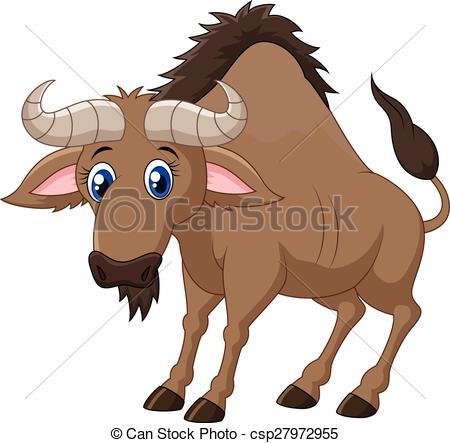 Wildebeest clipart EPS Vector  Wildebeest wildebeest