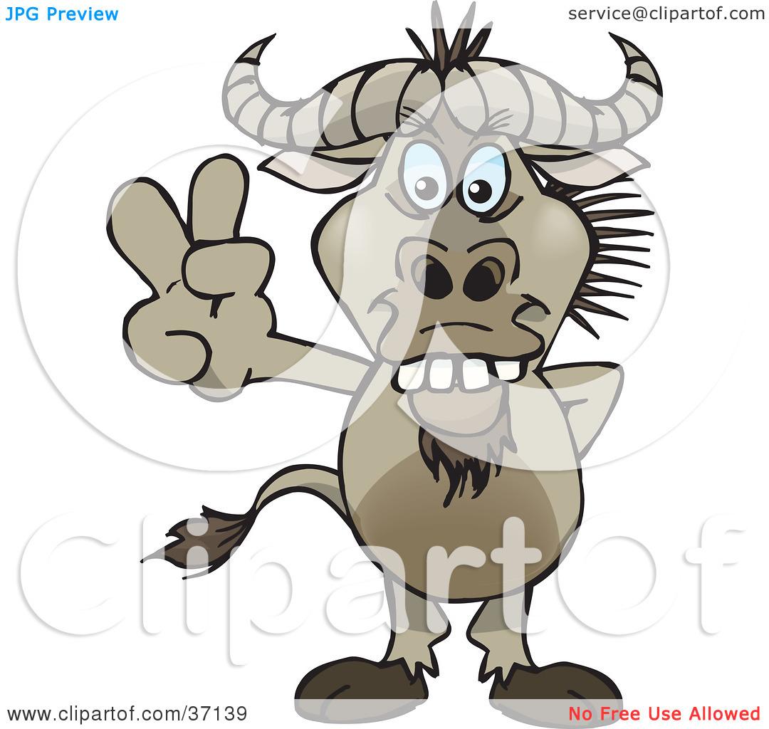 Wildebeest clipart cartoon Wildebeest Tiny 20clipart 125 20clipart