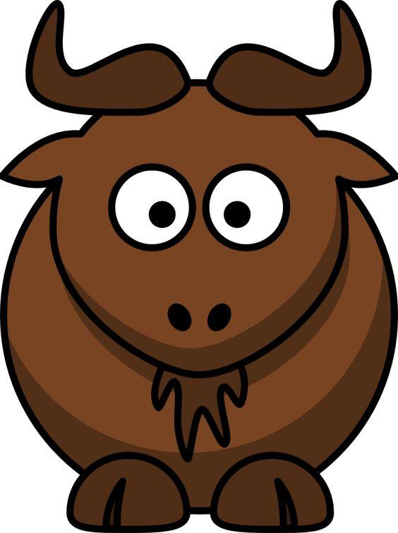 Wildebeest clipart cartoon From com @OnlineLabels free free