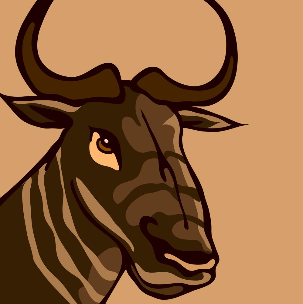 Wildebeest clipart gnu Free Portrait Wildebeest Download Gnu
