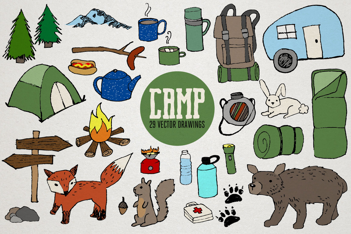 Wilderness clipart animal Clipart Nature bear tent Nature