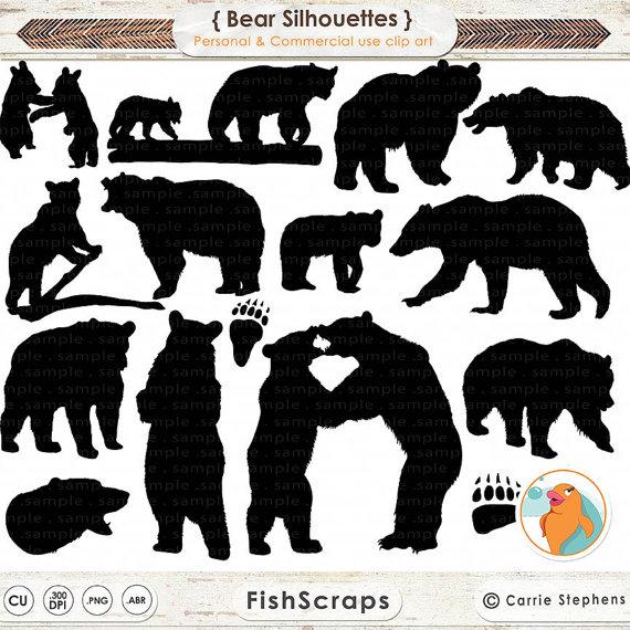 Black Bear clipart wilderness Bear Animal Stamp Animal Bear