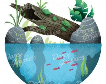 Wilderness clipart ecosystem Printable Download Circular Ecosystem Etsy