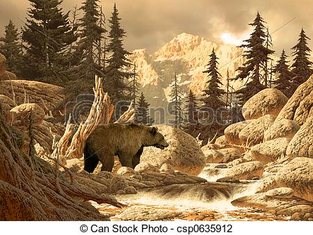 Wilderness clipart grizzly Bear original an Bear 17x24