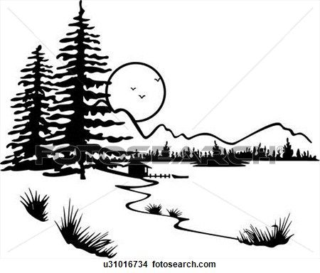 Wilderness clipart group tree Best country forest on lake