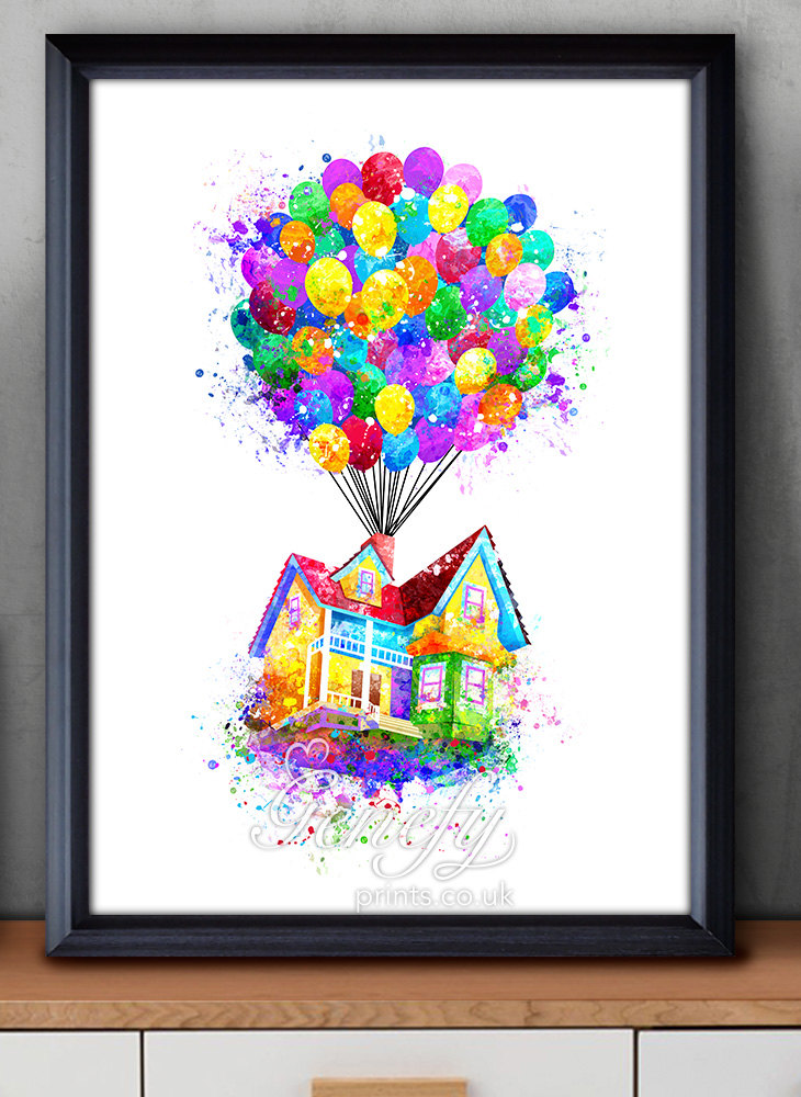 Wilderness clipart pixar up House house Watercolor Pixar Up