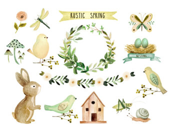 Wilderness clipart spring water Rustic Watercolor Etsy Rustic clipart