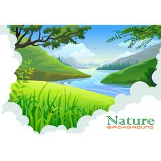 Wilderness clipart stream With  forest Background valley