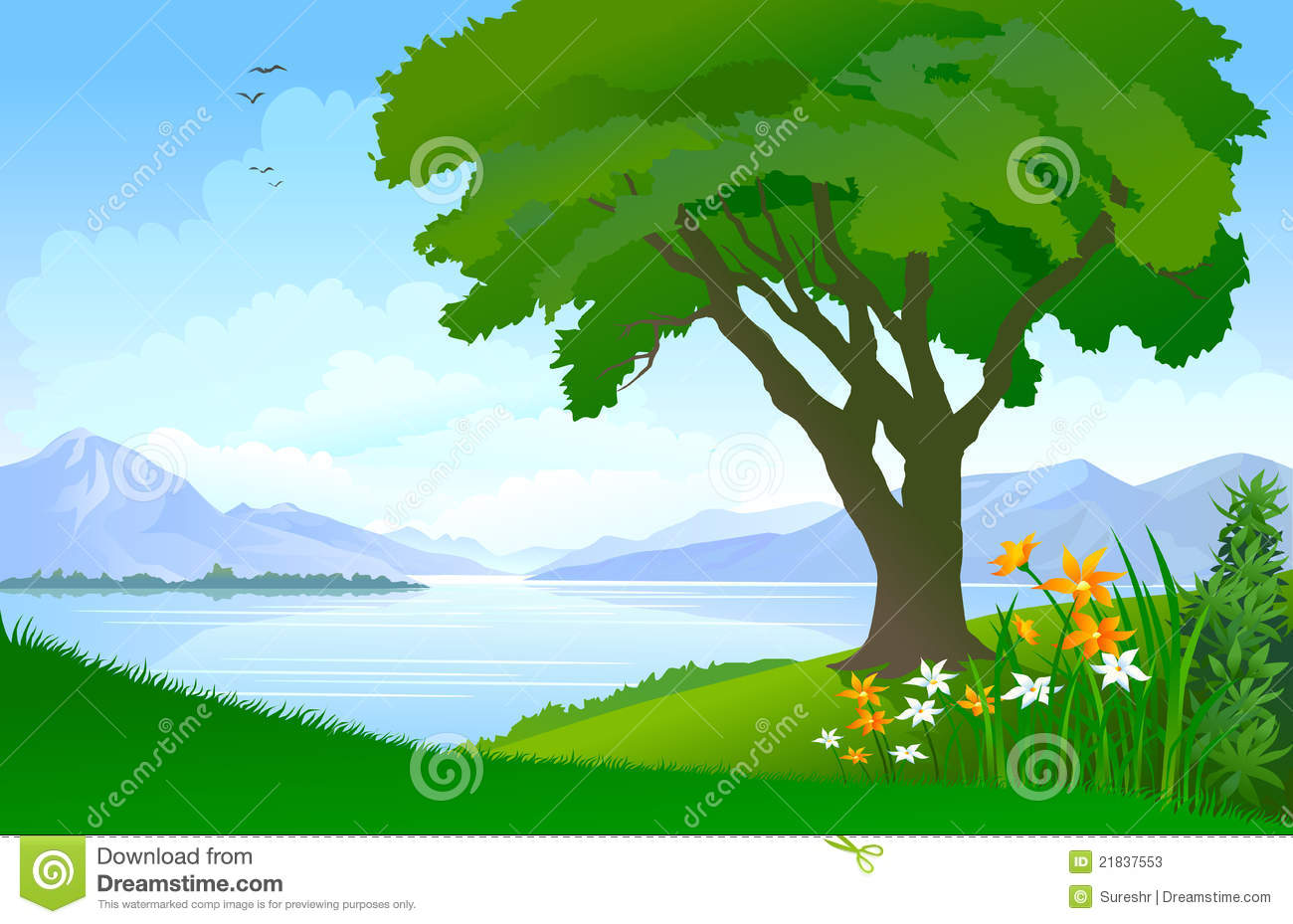 Wilderness clipart tress Clip Tree the Lake Clipground