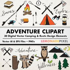 Wilderness clipart vintage camping Cliparts Camping hand Camping Vintage