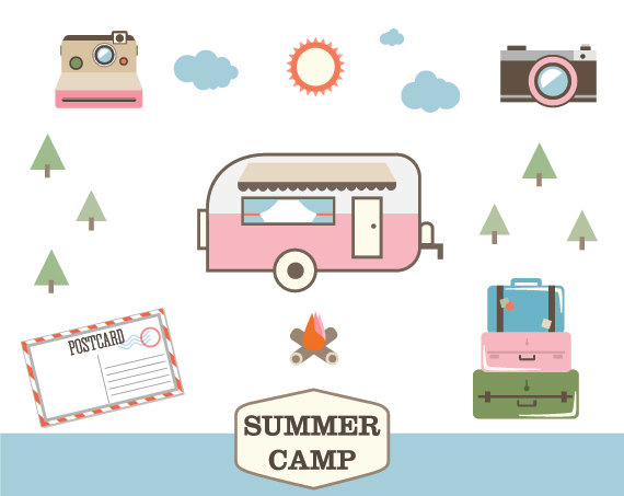 Wilderness clipart vintage camping Art clipart Art Free Clip