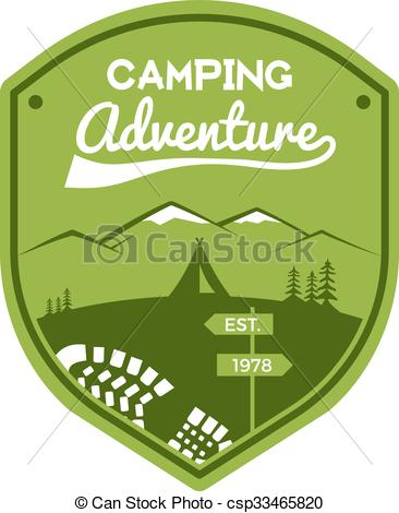 Wilderness clipart vintage camping Camping  Travel Mountain Vector