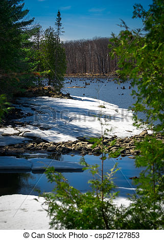 Wilderness clipart water stream Spring in Canadian Canadian of