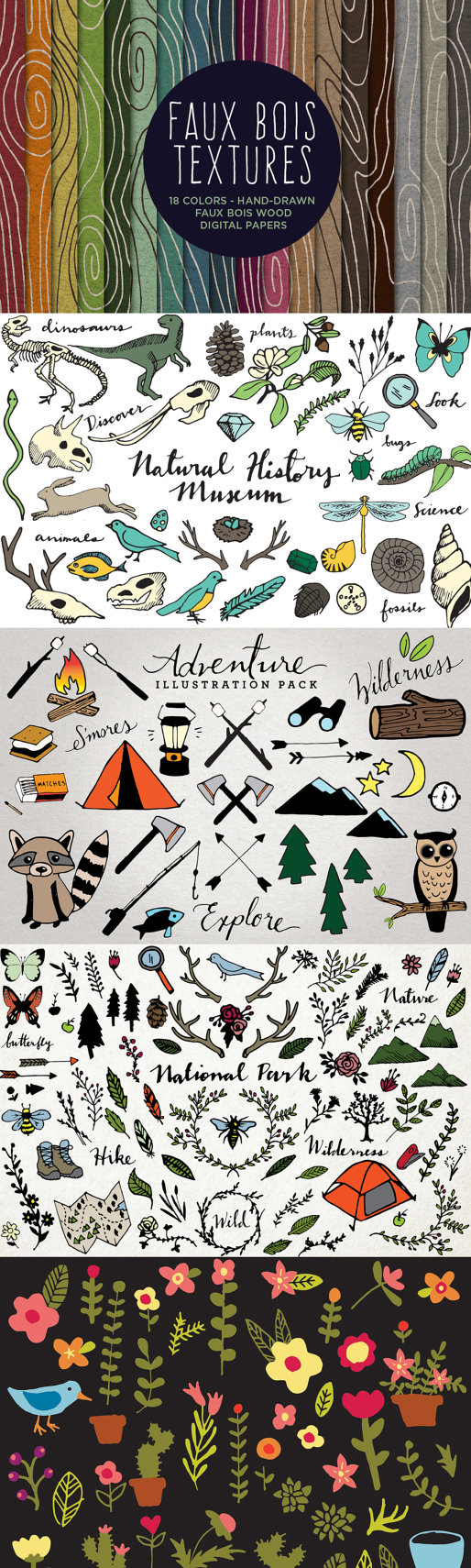 Wilderness clipart woods Set hand Nature and our