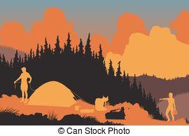 Wilderness clipart woods 287 EPS8 Wilderness Art campers