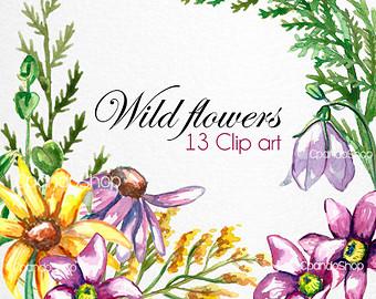 Wildflower clipart Clipart Spring flower Clip Wild