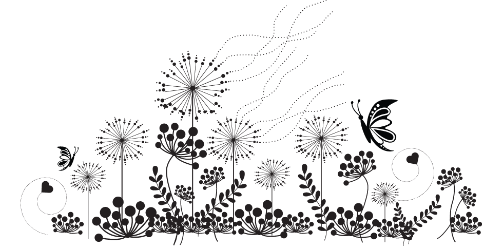Wildflower clipart black and white Clipart Clipart Wildflower White White
