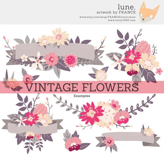 Wildflower clipart pink leaves Pinterest Bouquets Wedding images Handddrawn