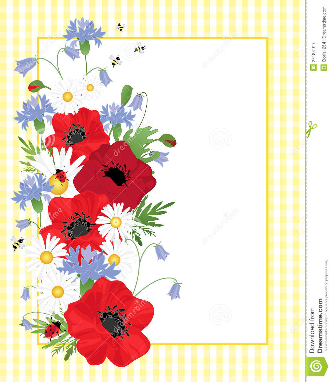 Wildflower clipart royalty free Wildflower collection Border border art