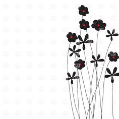 Wildflower clipart royalty free Art silhouettes clip Clip of