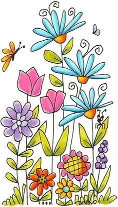 Wildflower clipart simple flower Border flowers school variety clipart