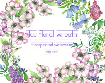 Wildflower clipart southwest Elements rustic floral Lilac Boho
