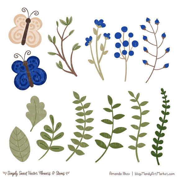 Wildflower clipart southwest In Clipart Flowers Blue download