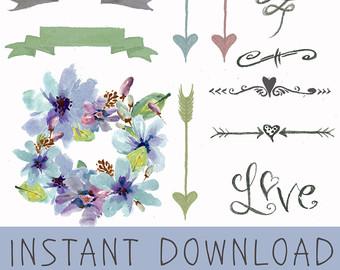 Wildflower clipart southwest Clipart Horns sticker clipart Clipart