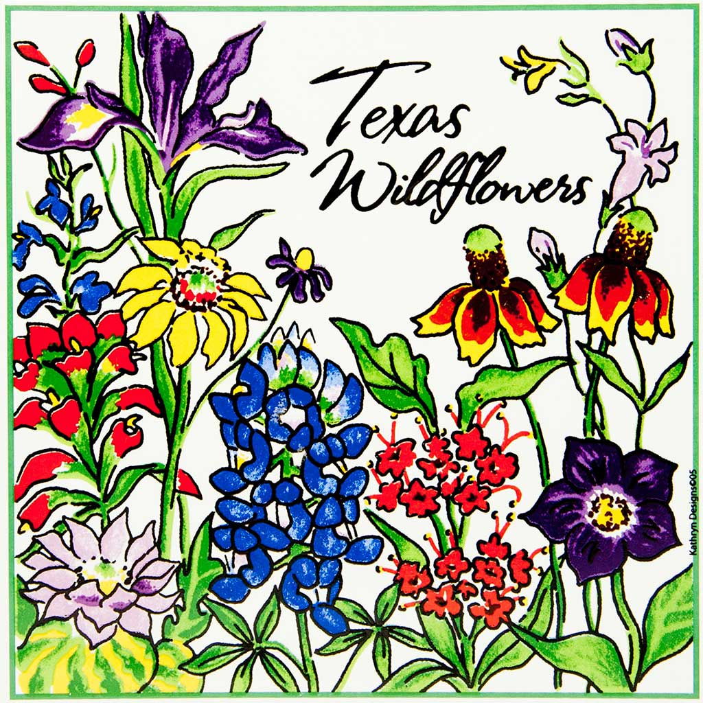 Wildflower clipart texas Texas Wildflowers Trivet Guenther House